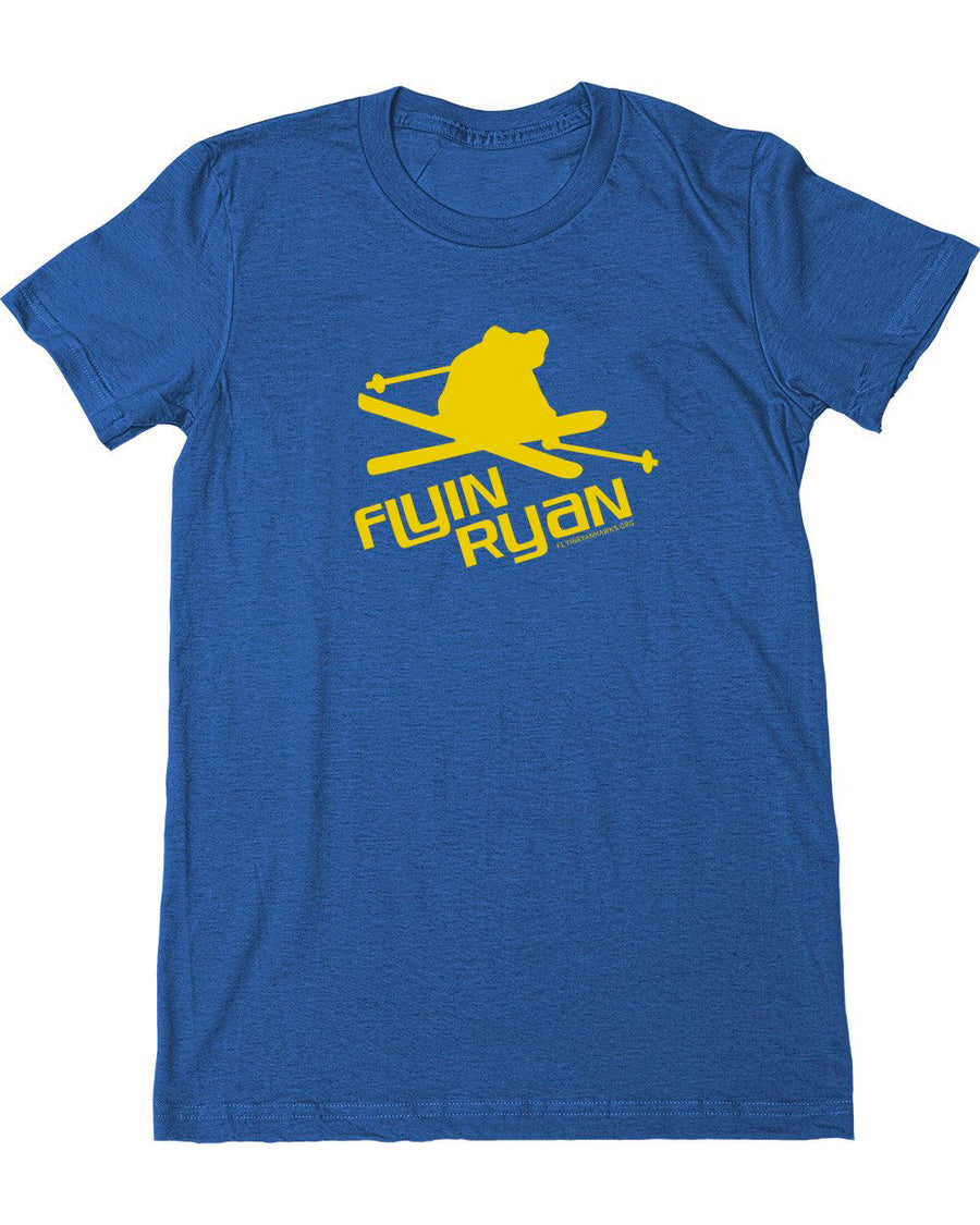 Women's Flyin Ryan Logo Tee - Heather Blue