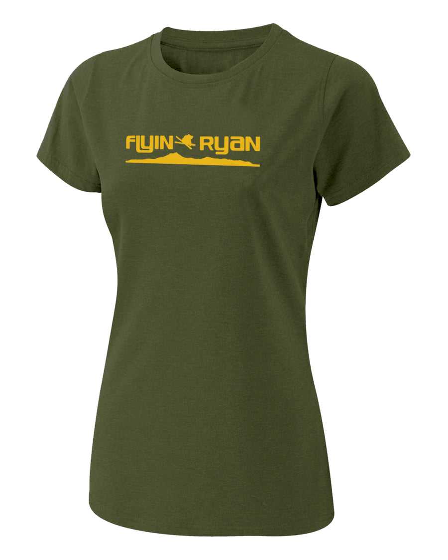 Women's Flyin Ryan Ridge Tee - Olive
