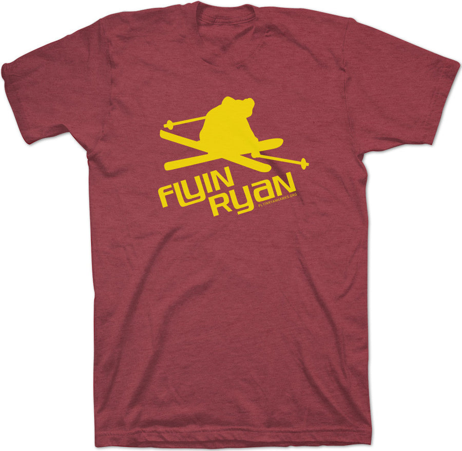 Flyin Ryan Logo Tee - Heather Red