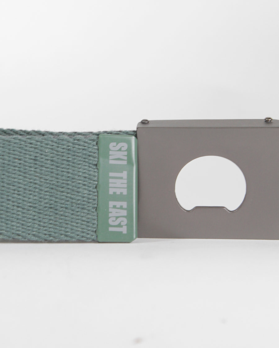 Ridgeline Canvas Belt - Reversible w/ Bottle Opener - Charcoal/Forest
