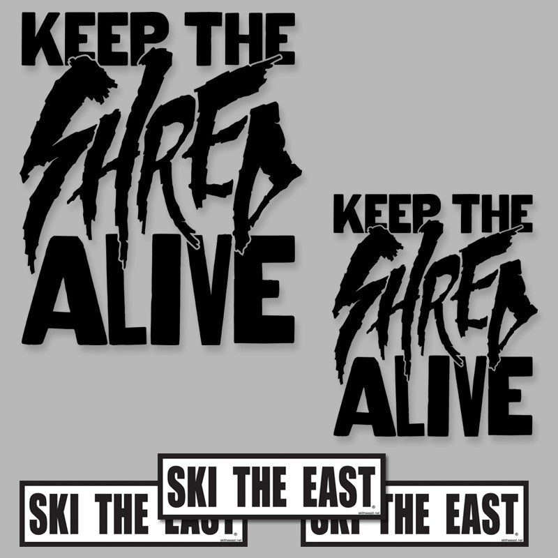 Keep The Shred Alive Die-Cut Sticker Pack - Black