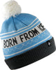 Born From Ice Pom Beanie - Ice Blue