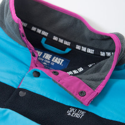 Women's Low-Fi Snap Fleece - Black/Ice Blue