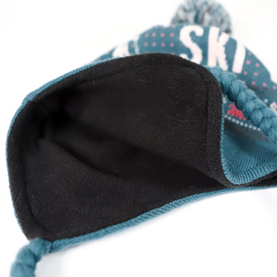 Murray Earflap Fleece Lined Beanie - Charged Teal