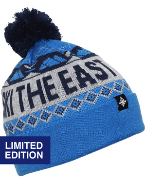 Powder Day Pom Beanie - Ocean Ice