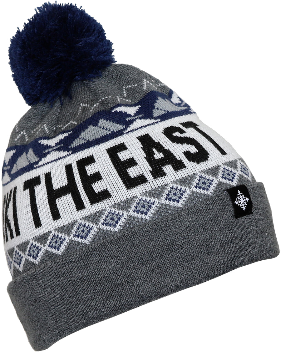 Powder Day Pom Beanie - Gray