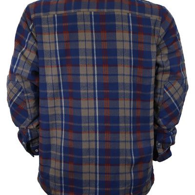 Woodbury Fleece Lined Flannel - Bark