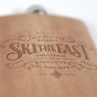 Cask Wood Wrapped Flask