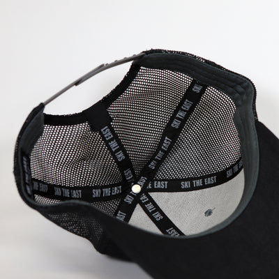 Born From Ice Canvas Trucker Hat - Black