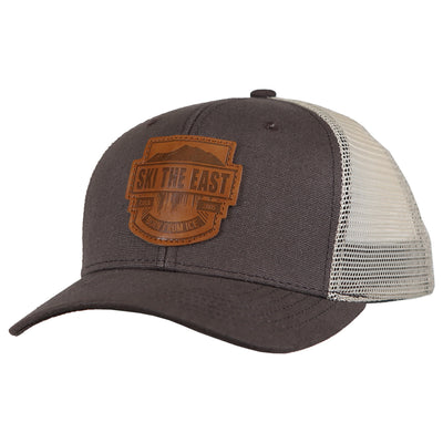 Born From Ice Canvas Trucker Hat - Mineral Brown