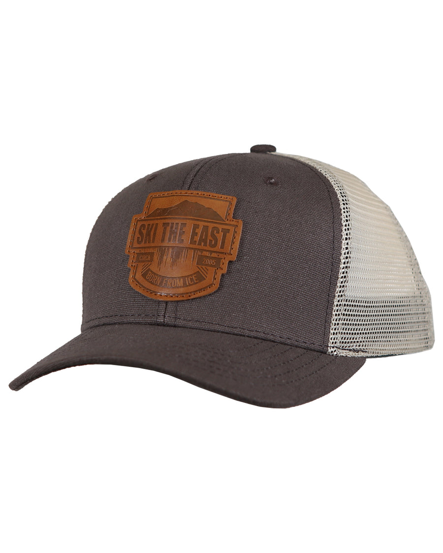 Born From Ice Canvas Trucker Hat - Mineral Brown fa1be27fe464