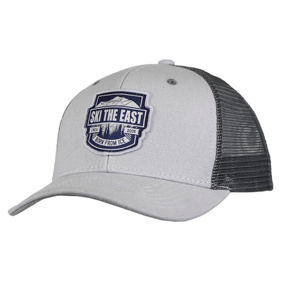 Born From Ice Canvas Trucker Hat - Cool Gray