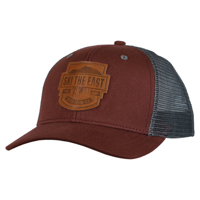 Born From Ice Canvas Trucker Hat - Brick