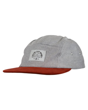 Fall Line 5 Panel Hat - Gray/Clay