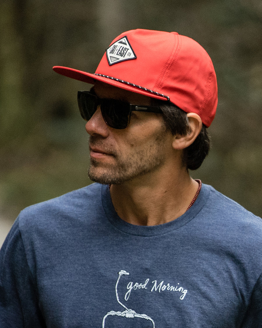 Glory Daze Unstructured 5 Panel Hat - Radical Red