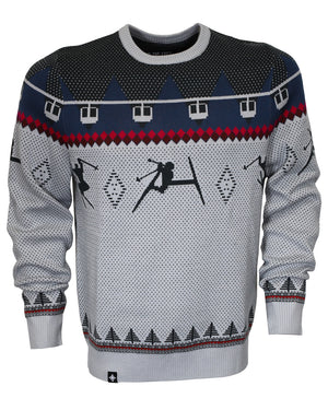 Double Diamond Shredder Sweater - Giver Gray