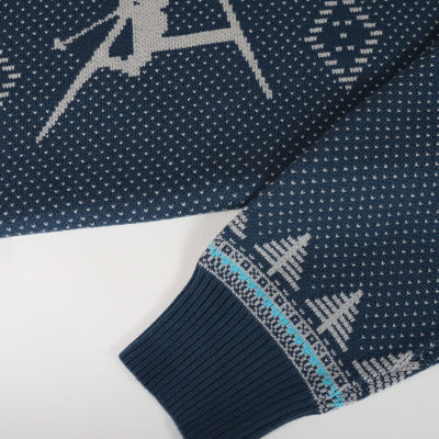 Double Diamond Shredder Sweater - Gnarly Navy