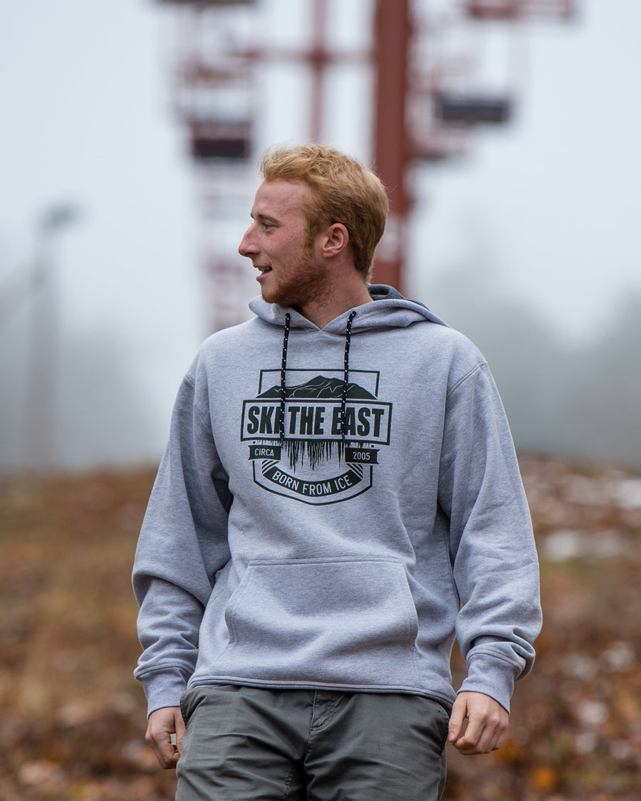 Born From Ice Pullover Hoodie - Gray