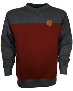 Quarry Crew Sweatshirt - Brick/Charcoal