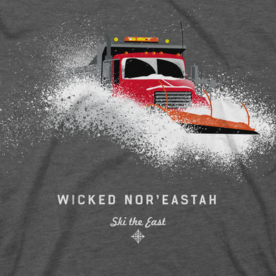 Wicked Nor'Eastah Plowman Tee - Charcoal