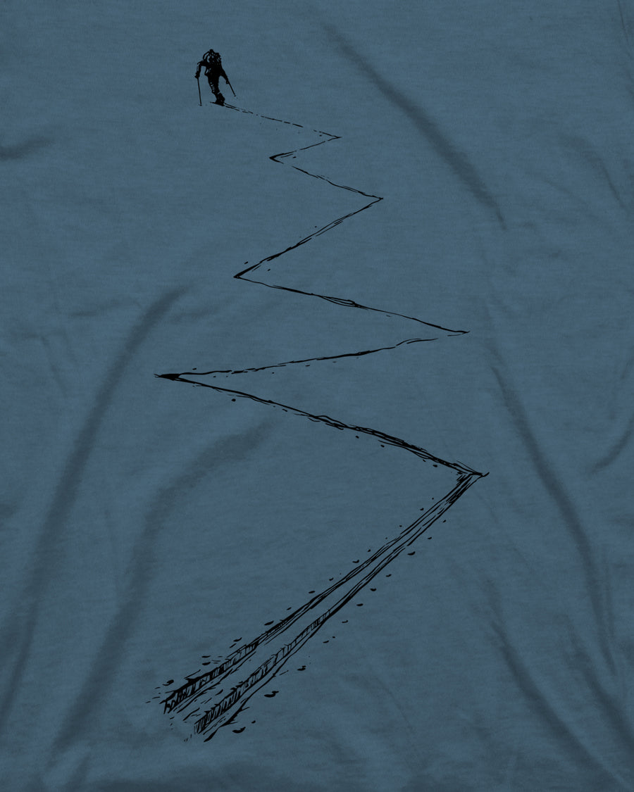 Earn Your Turns Tee - Indigo