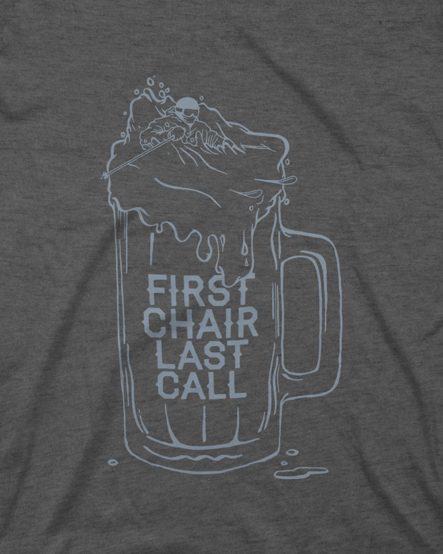 First Chair Last Call Tee - Charcoal