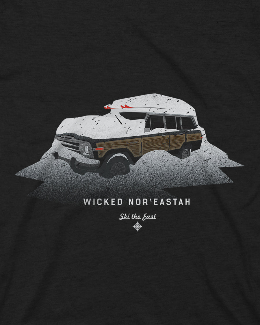 Wicked Nor'Eastah Tee - Vintage Black