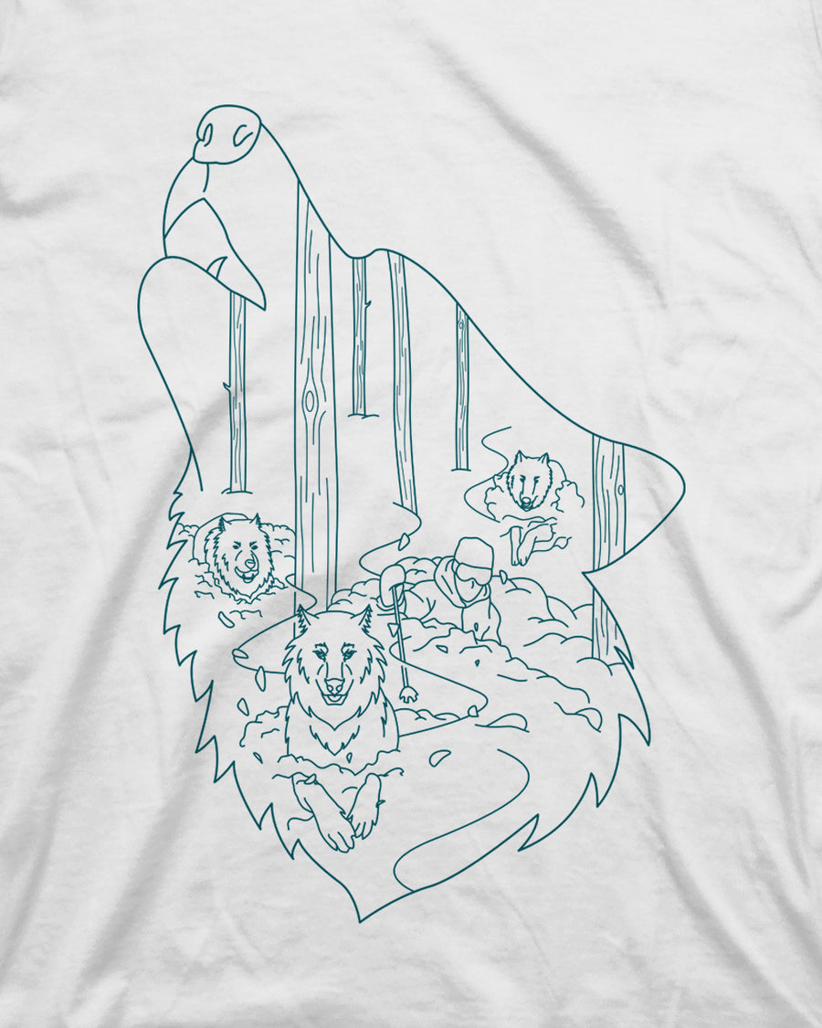 Powder Hounds Tee - White