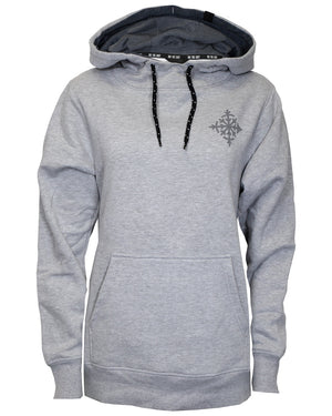 Women's Compass Pullover Hoodie - Gray