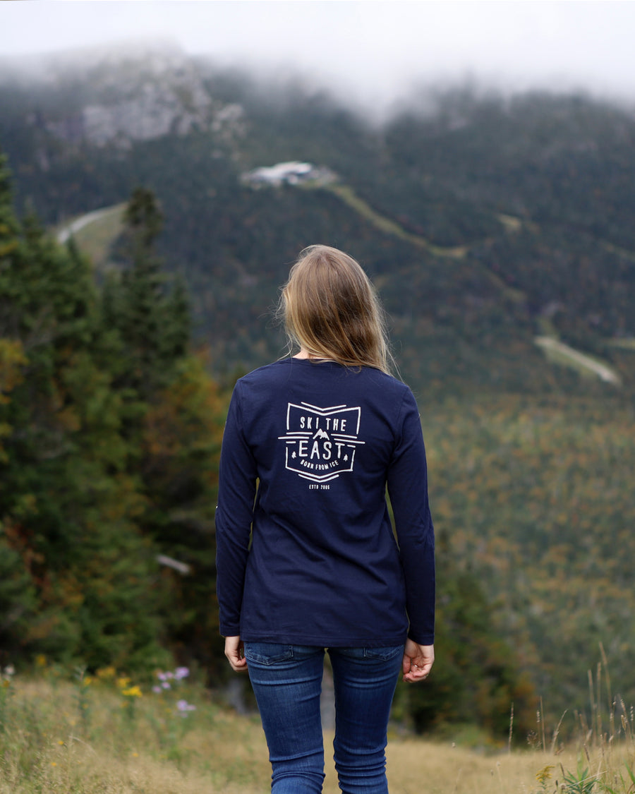 Women's Born From Ice Longsleeve - Midnight Navy