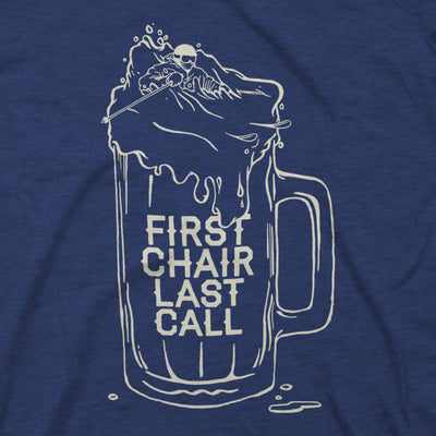 Women's First Chair Last Call Tee - Midnight Navy