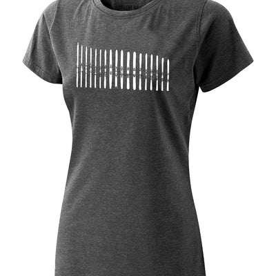 Women's Ski Quiver Tee - Charcoal