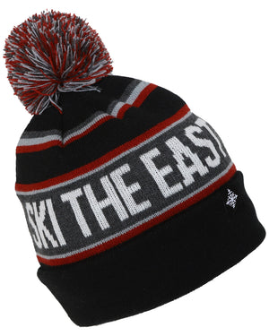 Youth Tailgater Pom Beanie - Black