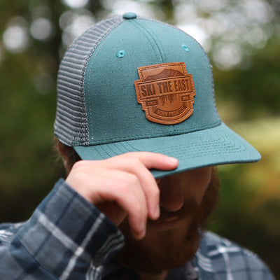 Born From Ice Canvas Trucker Hat - Mountain Moss