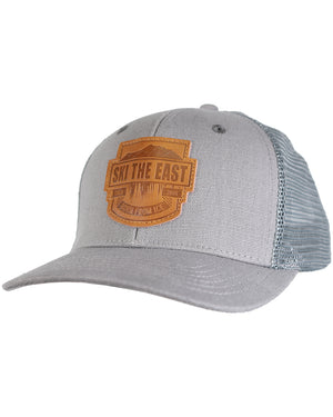 Born From Ice Canvas Trucker Hat - Gray