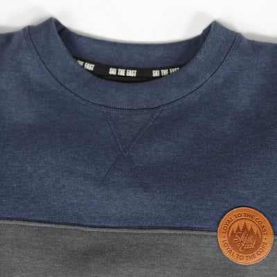 Quarry Crew Sweatshirt - Navy/Charcoal