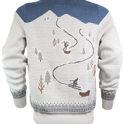 Powder Day Shredder Sweater - Navy/Gray