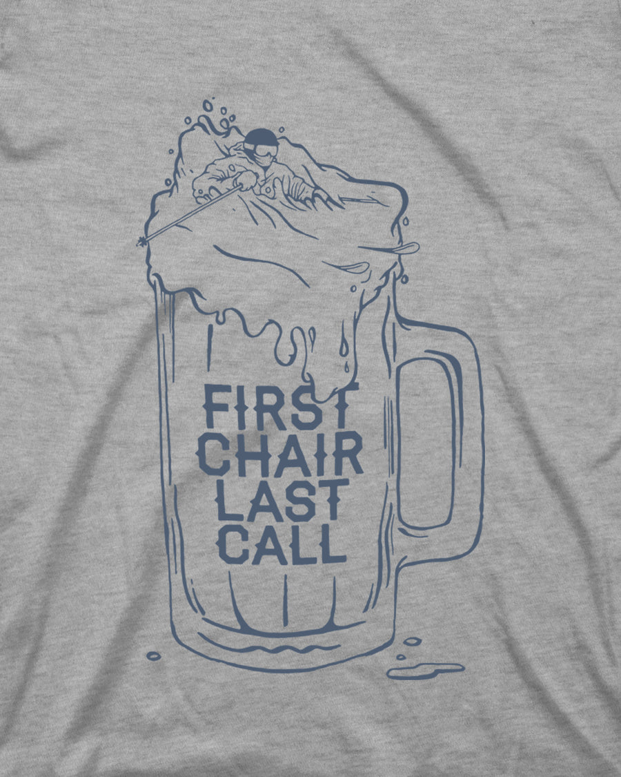 First Chair Last Call Tee - Light Gray
