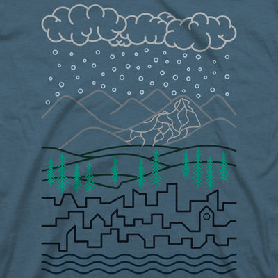 Homeward Tee - Indigo
