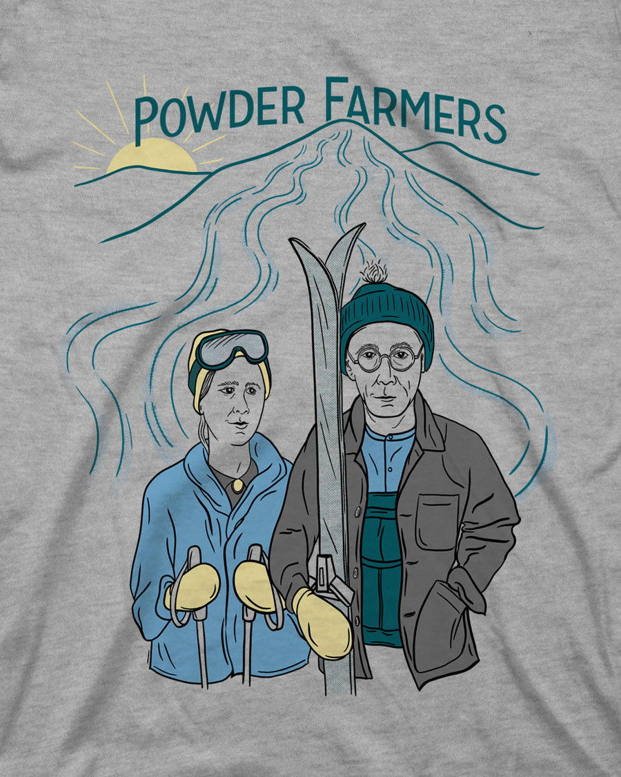 Powder Farmers Tee - Light Gray