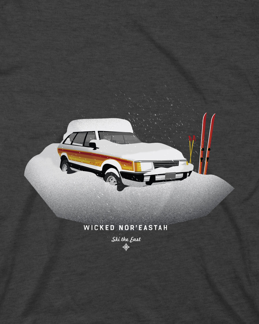 Wicked Nor'Eastah Tee - Charcoal