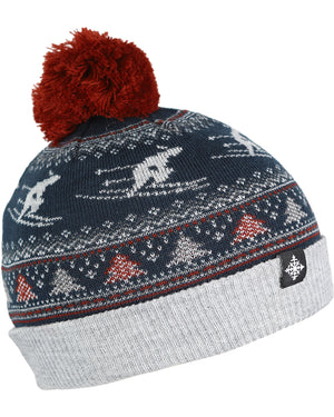 Women's Suzy Pom Beanie - Deep Blue