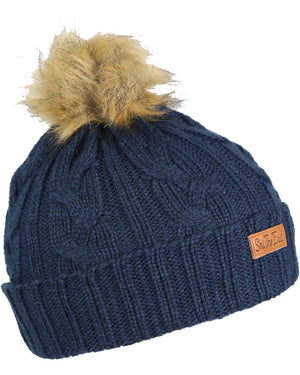 Women's Trapper Beanie - Deep Blue
