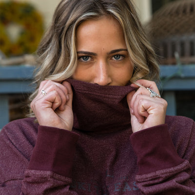 Women's Pinnacle Funnel Neck - Burgundy