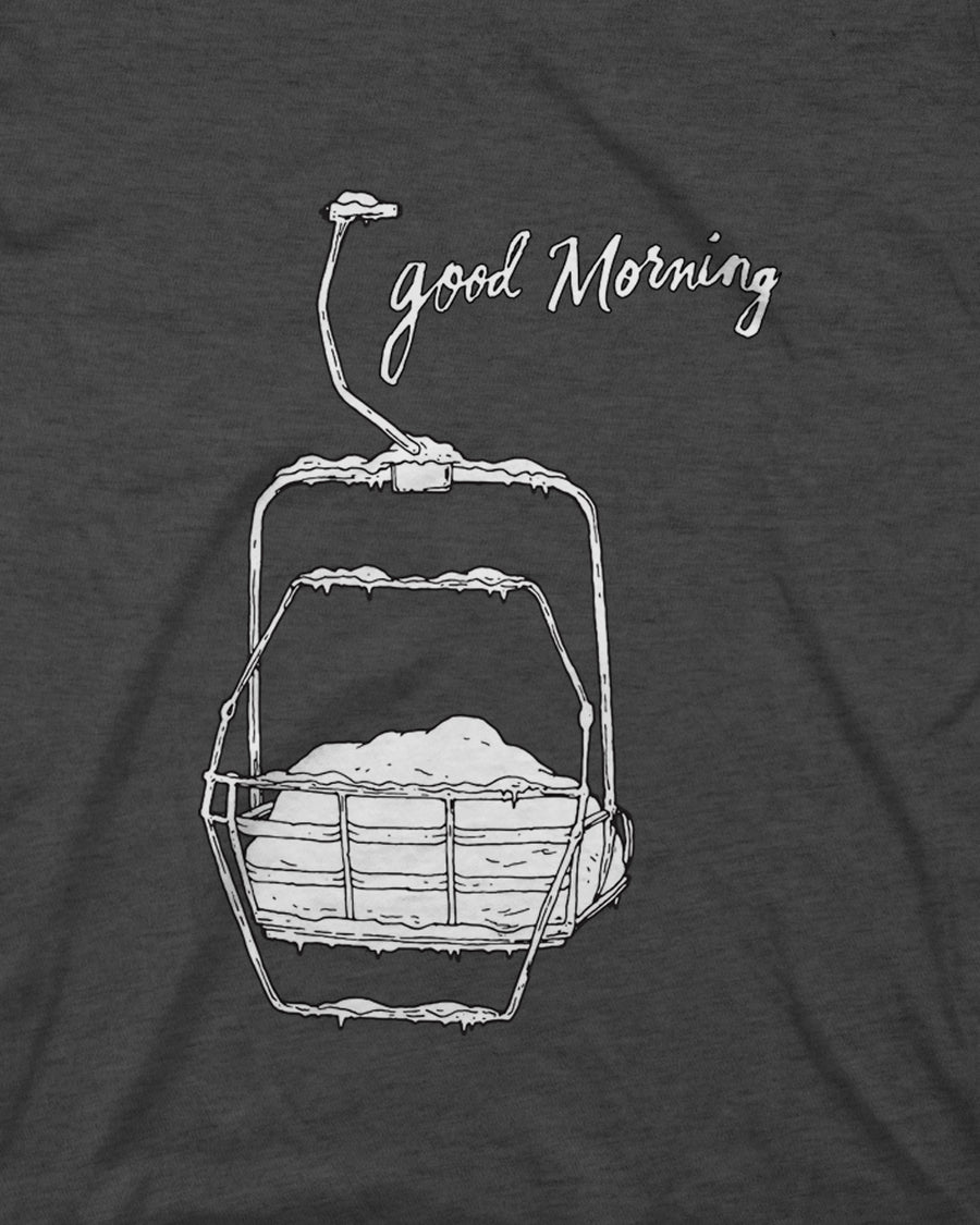 Women's Good Morning Tee - Charcoal