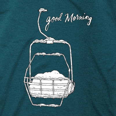Women's Good Morning Tee - Teal