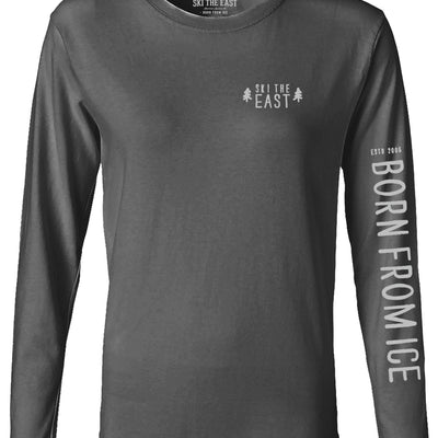 Women's Born From Ice Longsleeve - Charcoal