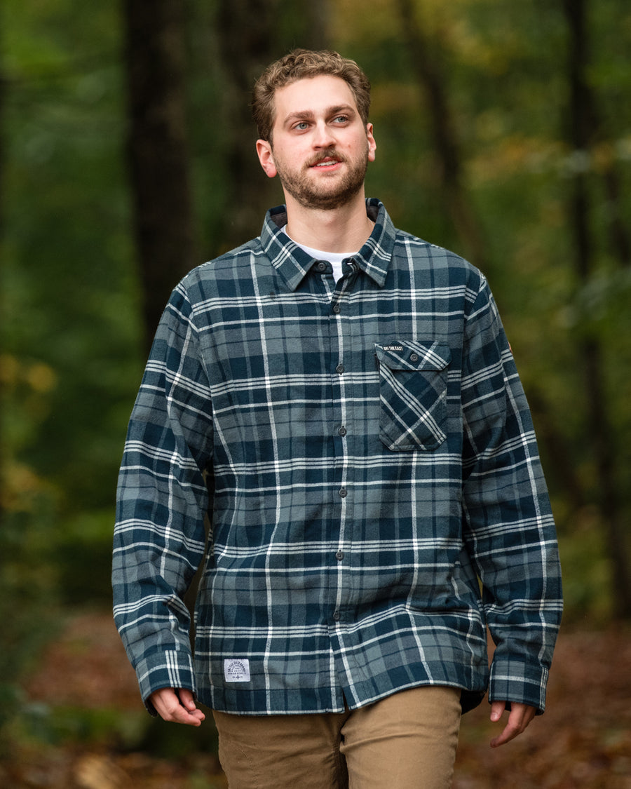 Woodbury Fleece Lined Flannel - Charcoal