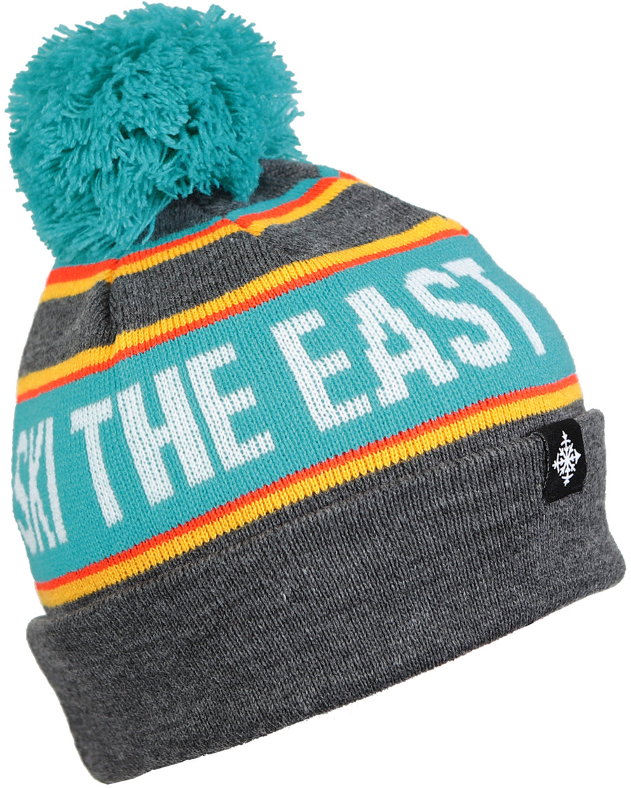 Youth Tailgater Pom Beanie - Citrus