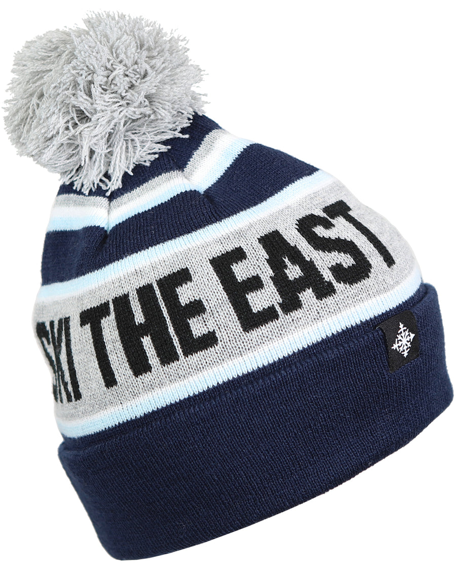 Youth Tailgater Pom Beanie - Navy